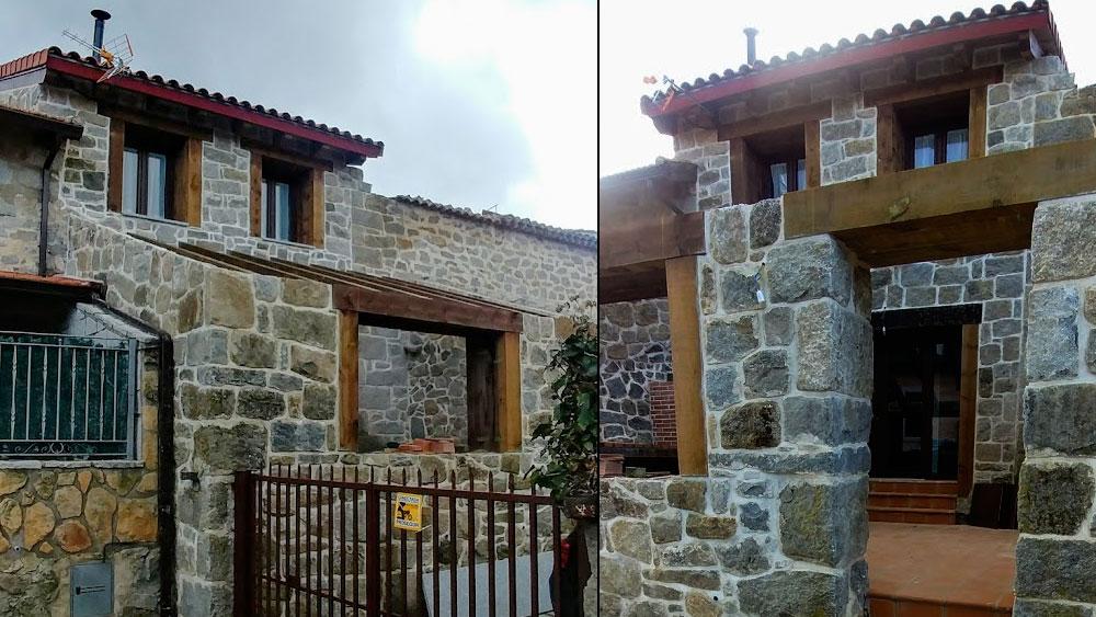 Fachada casa rústica en la Sierra de Madrid
